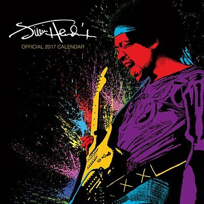 Calendar - Jimi Hendrix 2017 Official Wall Calendar - Officially Licensed New