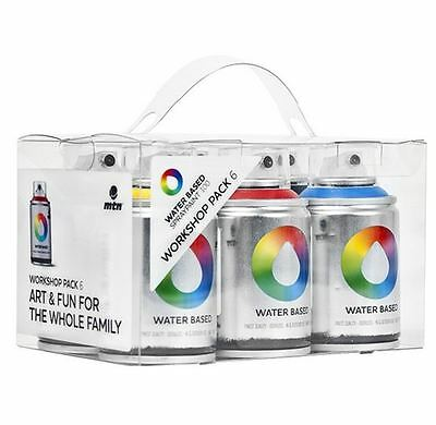 Mtn Colors Water Based Spray Paint- 100Ml Cans - 6 Pack - Workshop Pack