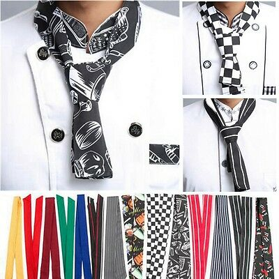 Practical Unisex Catering Chefs Scarfs Ties Professional Catering Clubber Hat