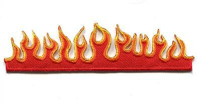 Flames fire retro biker muscle car embroidered applique iron-on patch new S-1208