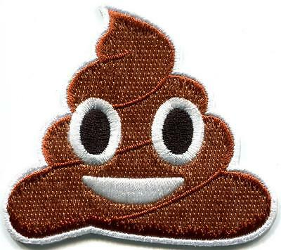 Poop dookie poo crap humor gag funny embroidered applique iron-on patch S-1239