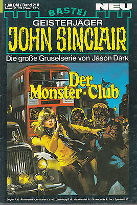 John Sinclair Nr. 218, Der Monster-Club / Top Zustand