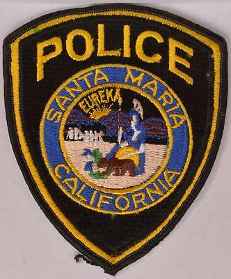 Vintage Santa Maria California Police Department Patch Law Enforcement Officer