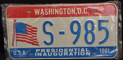 1981 Ronald Reagan Presidential Inauguration Washington DC License Plates PAIR