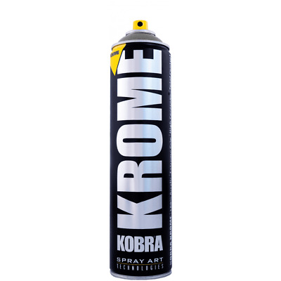 Kobra Krome Spray Paint - Acrylic Silver Chrome - 600Ml Can - Aerosol Art