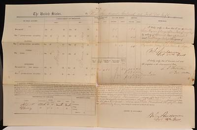 1864 Civil War Document Pay Form 3 for 2 African American Black Servants KY TN