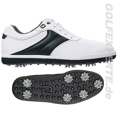Footjoy Golf Uomo Carpe Golf Awd Classic 7-Spike-Sole Bianco/black Impermeabile