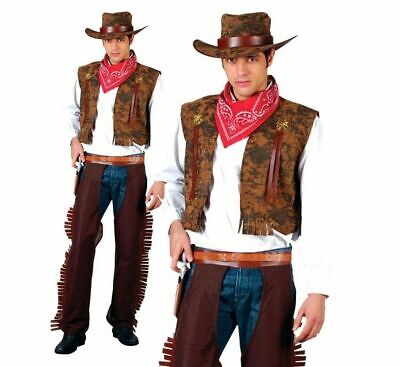 Western Cowboy Adult Wild West Party Mens Fancy Dress Costume New Indian