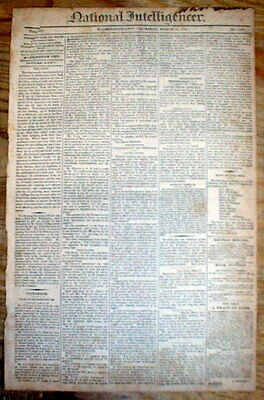 1814 Washington DC newspaper w AD - 2 SLAVES FOR SALE A Negro Woman & her Child