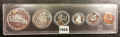 1965 Canada Proof Like 6 Coin (4 Silver) PL Uncirculated Set - Hard Plastic Case
