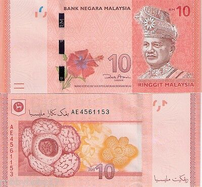 MALAYSIA 10 Ringgit Banknote World Paper Money UNC Currency BILL Note p53 Rahman