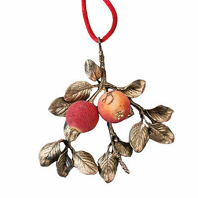 Crabapple & Pearl Ornament By Michael Michaud For Silver Seasons  - 9374Ab