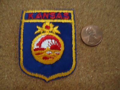 Vintage Kansas State Patch New Old Stock