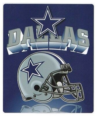 Dallas Cowboys NFL 50 x 60 Fleece Throw Mirror Logo Couch Blanket Bedding