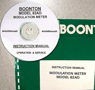 Boonton 82Ad Modualtion Meter Operating & Service Manual