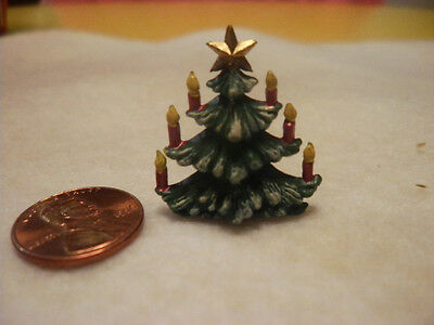 Vintage Miniature Plastic Christmas Tree