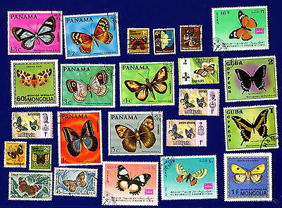 Small Selection ~ BUTTERFLY Butterflies MOTHS ~ Stamps