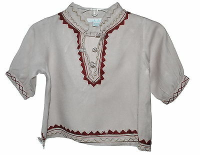 Marie Chantal Baby Kaftan Beige New With Defect 6 Months NWOT