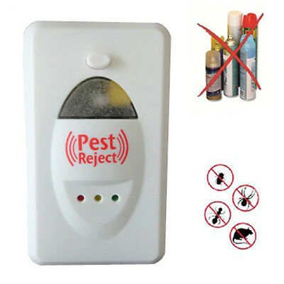 Pest Reject Mice Spider Insect Ultrasonic Control Pest Repeller EU plug New
