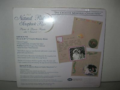 CREATIVE MEMORIES ~ 7x7 NATURAL RULED SCRAPBOOK PAGES ~ 5 SHEETS / 10 PGS ~ NEW