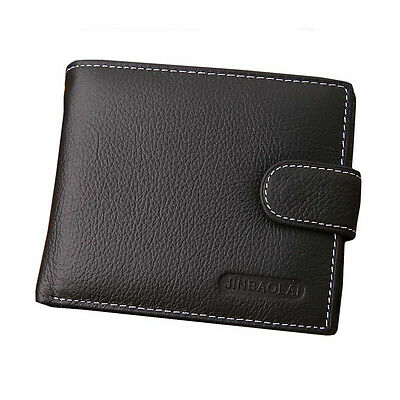 Men PU Leather Bifold Wallet Credit Card Holder Button Billfold Purse Slim