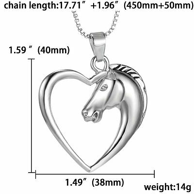 Handmade Silver Tone Animal Horse Heart Dog Footprint Necklace Pendant Jewelry