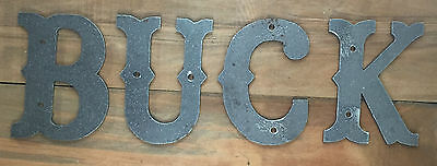 Cast Iron Alphabet Letters Western Style Decor House Barn Shed Stahl Door