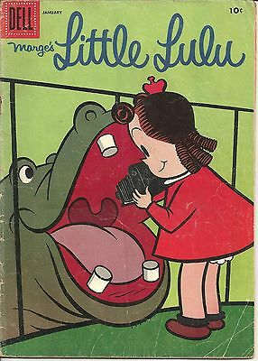 1957 Little Lulu Dell Comic # 103 Crayon on 1st Page VG Camera Theme Cover