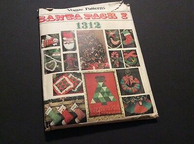 Vintage Vogue Pattern #1312 For Christmas Accessories & Ornaments