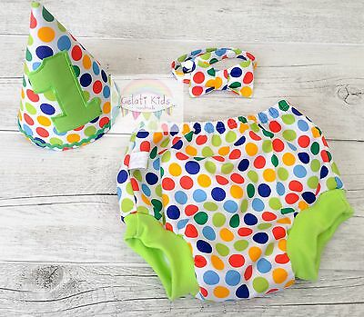 Diddly Dot Cake Smash Set / 1st Birthday Outfit / Photo Prop