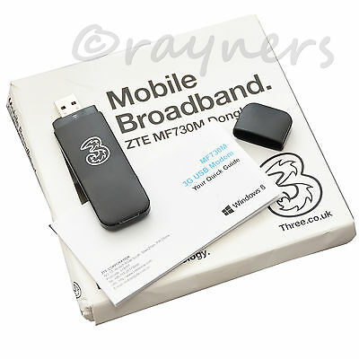 ZTE MF730M (3G) Sim Free Mobile Broadband Dongle | Black 3G Dongle