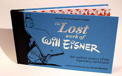 The LOST WORK of WILL EISNER book signed by Joseph M. Getsinger  cartoon history