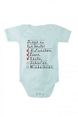 Romper baby bodysuit Things to do today wake up eat poo In different languages
