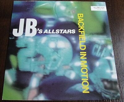 """J B Allstars Backfield In Motion 12"""" Picture Sleeve Rca-Victor 1984 Top Copy"""