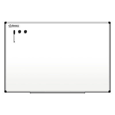 Thornton's Office Supplies Aluminum Frame 36 x 24 Magnetic Dry Erase Whiteboard