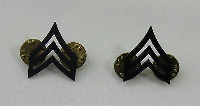 Sergeant E- 5 Army Military Pin Set of 2 Chevron Black