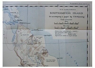 1936 Manning  SOUTHAMPTON ISLAND  Eskimo  NW TERRITORIES  Canada  COLOR MAP  9