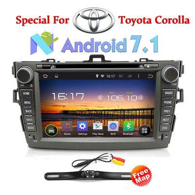 8'' Double 2Din Stereo Car DVD Radio GPS Navigation For Toyota Corolla 2007~2013