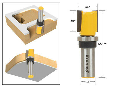 "3/4"" Diameter Flush Trim Template Router Bit - 1/2"" Shank - Yonico 14131"