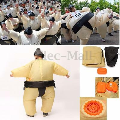 SUMO Fancy Dress Fan Inflatable Costume Suit Party Activity 170cm Unisex Outfit
