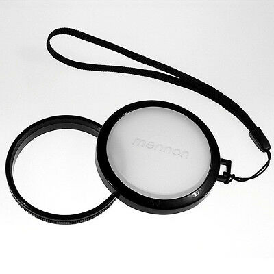77mm White Balance Camera Lens Cap Cover with Filter Adapter Mount and Strap
