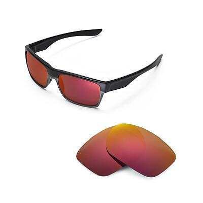 5326dd4117b New Walleva Polarized Fire Red Replacement Lenses For Oakley TwoFace  Sunglasses