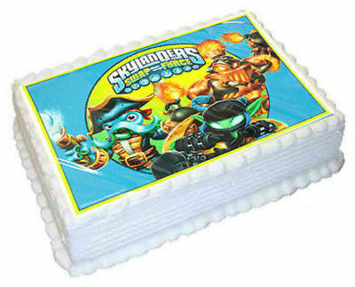 Skylanders Edible Icing Image Cake Topper - Rectangle