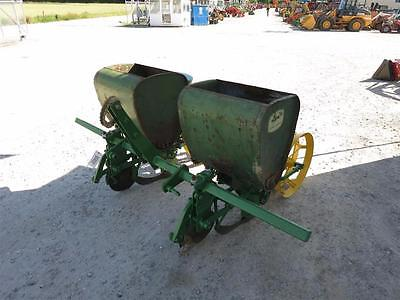 John Deere 71 Two Row 3Pt Corn Planter On Toolbar For Tractors, Ground Driven