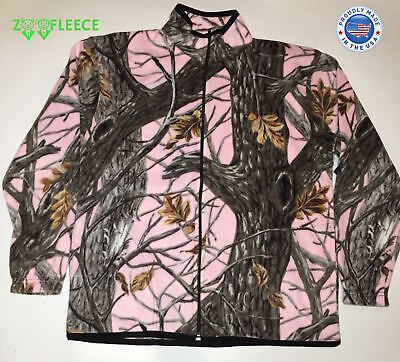 ZooFleece Pink Camo Winter Jacket Camouflage Tree Women Coat Sweater Hunting USA