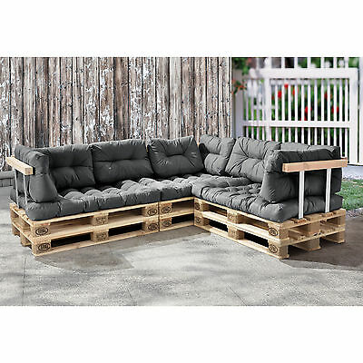 euro paletten sofa hellgrau ecksofa mit paletten polster kissen lehnen eur 549 90. Black Bedroom Furniture Sets. Home Design Ideas