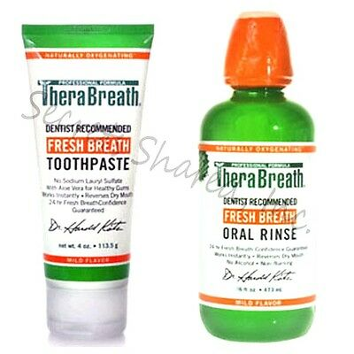 TheraBreath Dr. Katz Professional Formula Fresh Breath Toothpaste and Oral Rinse
