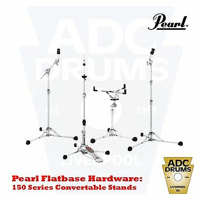 Pearl 150 Series Flat Base Hardware: Snare/Hi-Hat/Cymbal Stand (Vintage Style)