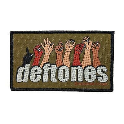"""""""Deftones"""" Sign Language Logo Metal Rock Band Music Woven Sew On Applique Patch"""