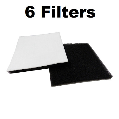 6 Filters for Kenmore Canister Vacuum 86883 CF1 CF-1